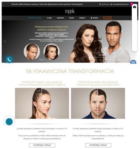 Toppikpolska jest oficjalnym  polskim sklepem internetowym  dla Toppik Inc.