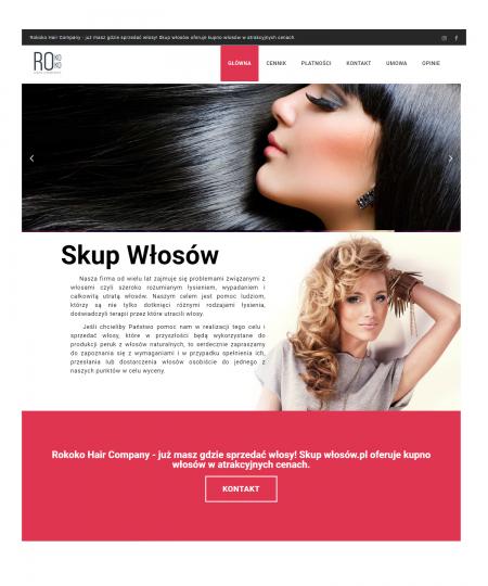 Skup Włosów -  Niewielka strona-wizytówka  na WordPress