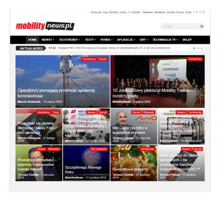 Mobilitynews - On-line portal o nowościach  w świecie mobilnych technologii.