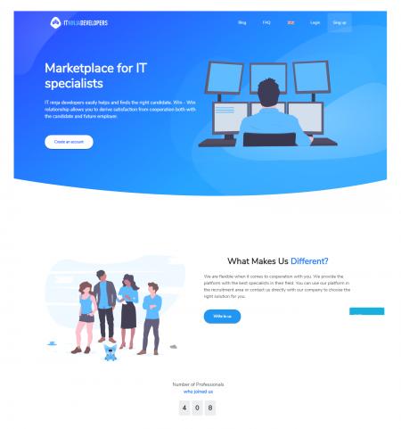 ITninjadevelopers to platforma łącząca programistów z pracodawcami
