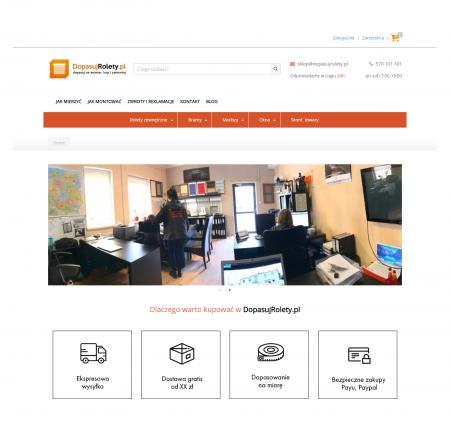Dopasujrolety - Sklep internetowy z możliwością konfiguracji towarów