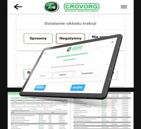 Crovorg Mobile App - mobilne narzędzie dla zabezpieczenia  pracy techników